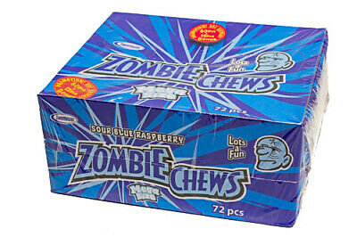 ZOMBIE CHEWS - SOUR BLUE RASPBERRY - 60 pieces box