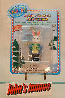 Webkinz Rabbit Ornament~New Factory Sealed Package With Code~Free Ship In Us~