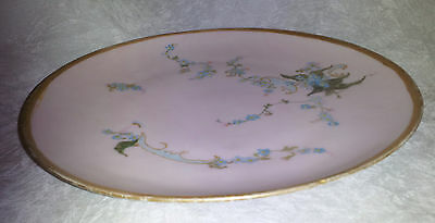KPM GOLD,PINK, BLUE. DECORATIVE PORCELAIN PLATE (BR).