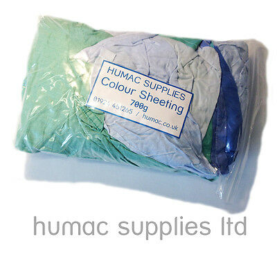 700g Coloured Lint Free Cotton High Quality Polishing Cloths Bag of Rags Wipes