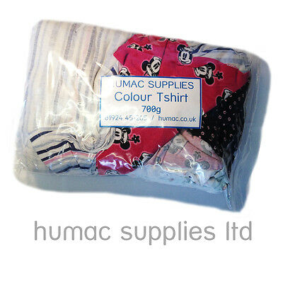 700g Colour Tshirt Soft Hosiery Cotton Polishing Cloths Wipes Bag of Rags Wiping