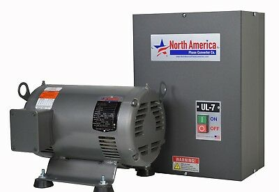 UL-7 Pro-Line 7.5HP UL Listed Rotary Phase Converter - NEW - Made in USA