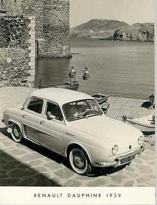 1959 Renault Dauphine ORIGINAL Factory Photo aa3751-O2ORGE