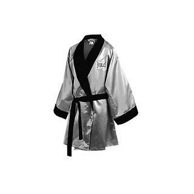 Everlast Boxing Professional Stock 3/4 Length Boxing Robe Silver/Black (4385)