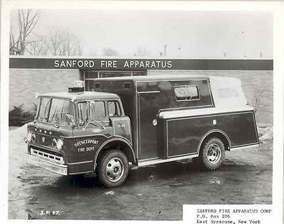 1960's Ford Sanford Fire Truck ORIGINAL Factory Photo Spencerport aa5064-38VTR3