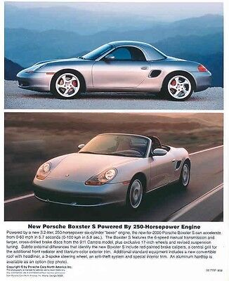 2000 Porsche Boxster S Convertible ORIGINAL Factory Photo ab1233-7JTCK9