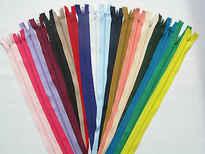 You Must Buy 3 Or More  For £1 Each  Nylon Closed End Zips Mix And Match Sizes