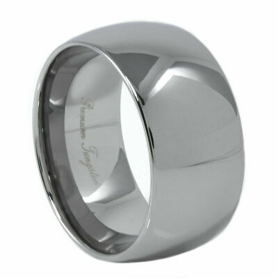 Tungsten Ring Dome Classic Polished 12MM Carbide Band