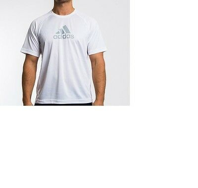 Mens Adidas White T-Shirt Running Sports Training Top Now Size Large & Xl Only