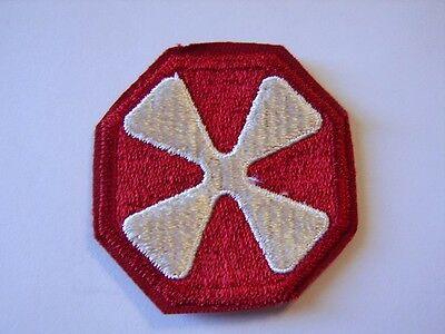 8th ARMY PATCH WWII ERA FULL COLOR CUT EDGE:K7