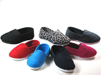 SlipOn Flats for Baby Toddler Girls or Boys Canvas Shoes, Sizes 5 6 7 8 9 10