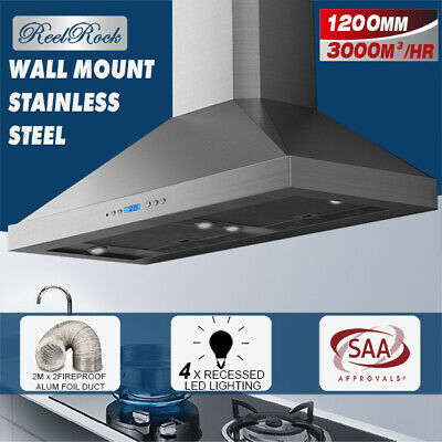 New COMMERCIAL 1200MM CANOPY RANGE HOOD ALFRESCO TWIN MOTOR BBQ RANGEHOOD
