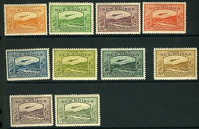 NEW GUINEA - 1919 Airmail Postage short set ½d to 1/- CAT £178 Sg 212-221