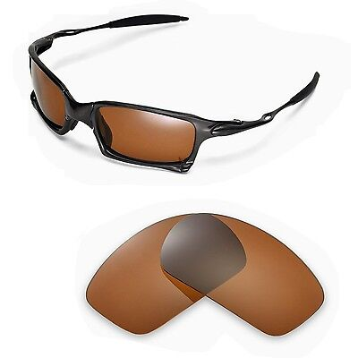 New Walleva Polarized Brown Replacement Lenses For Oakley X-Squared Sunglasses