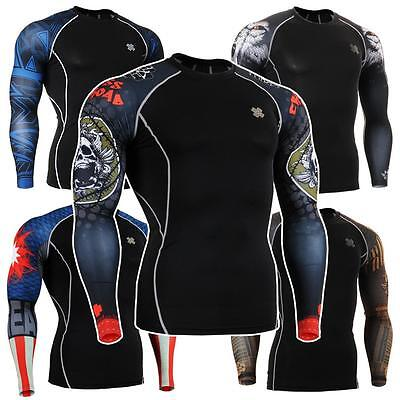 FIXGEAR CPD Compression Shirt Base Layer Under Skin Tight Gym Training MMA