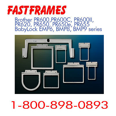 Fast Frames Brother Babylock PR620 650 PR655 ALL 6 NEEDLES Embroidery Hoop 7-N-1