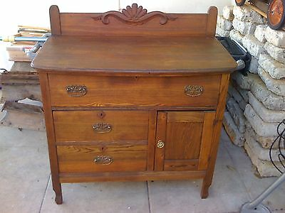 Beautiful Antique Oak Sideboard,Collectibles,Farmhouse,Country,Cabin,Kitchen
