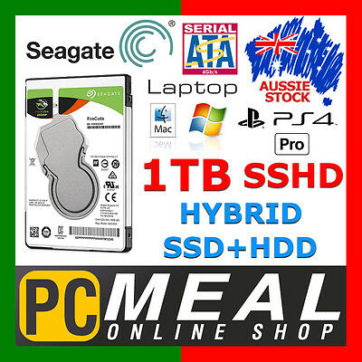 "Seagate 1TB SSHD 2.5"" SATA3 Internal Hybrid Hard Disk Drive SSD Laptop PS4 MAC"