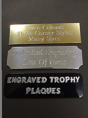 10 x ENGRAVED TROPHY AWARD PLAQUE PLATE PICTURE FILMCELLS MANY SIZES & STYLES