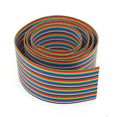 2M 40 WAY Flat Color Rainbow Ribbon Cable Wire Rainbow Cable Free