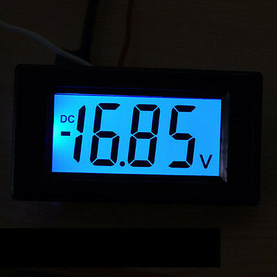 0-19.99V DC Blue LCD Digital Volt Panel Meter Voltmeter 20v for 12v auto car