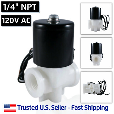 "1/4"" 120V AC Plastic Electric Solenoid Valve Water Air 120 VAC - FREE SHIPPING"