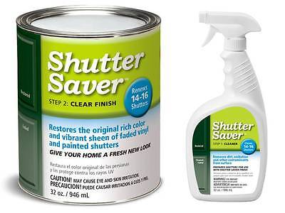 Vinyl Shutter Saver - Restorer/Cleaner Kit @only $3/shutter - Renew & Protect