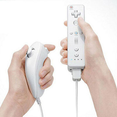 Remote and Nunchuck Controller Set for Nintendo Wii Game + Case Skin