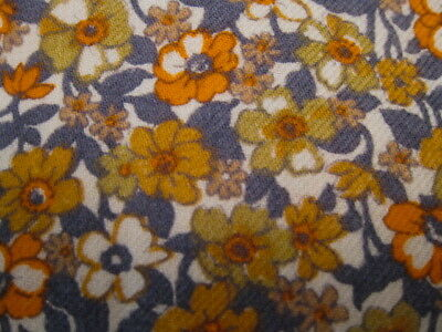 "Vtg WOOL & COTTON VIYELLA FABRIC 2.2yd/44"" QUILTS CLOTHING CRAFTS FLORAL"