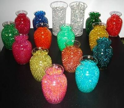 Water Pearl beads - use w/ fresh & silk florals - Centerpiece gel water beads