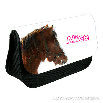 Personalised Horse Ladies / Girls Make Up Bag - Gift For Sister Mum Best Friend