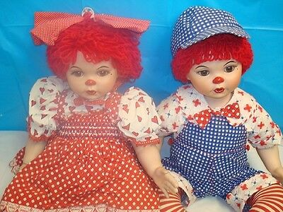 Set Of Collectors Large Dolls Marie Osmond Huggs & Kissy Raggedy Ann Andy