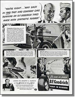 1943 Synthetic Rubber is OK - BF Goodrich Tire Ad