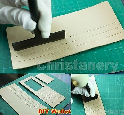 Lot of 2 Leathercraft Wallet Punch Cutter Tools Craft Tools 57mm 87mm