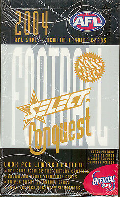 2004 Select AFL Conquest Trading Cards Factory Box (36 packs)