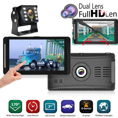 "Touch Screen Universal 7"" Vehicle Monitor RV Truck VAN Bus Rear View Camera Kit"