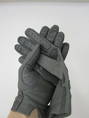 Women's Fownes VIBRANCE Grey Nylon Leather Gloves driving  One size