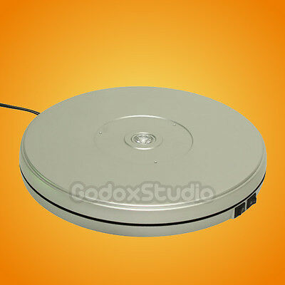 """[US] Silver 25cm 10"""" 10KG Loading 360° Rotary Rotating Display Stand Turntable"""