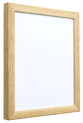 Real Solid Oak Picture Frames in a square profile - Available in all sizes