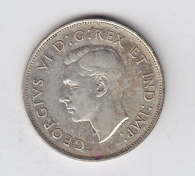 1939 Canada Silver Fifty Cents - Very Nice Condition