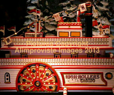 Snow Village Dept 56 HIGH ROLLERS RIVERBOAT CASINO! 55330 NeW! MINT! FabULoUs!