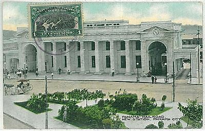 Vintage Postcard: Panama - New Train Station