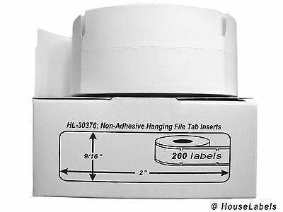 1 Roll of 260 Hanging File Tab Inserts for DYMO® LabelWriters® 30376
