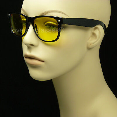Polarized Hd Night Driving Vision  Sun Glasses Yellow  Retro Vintage