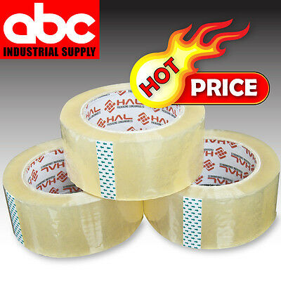 """36 Roll Case Clear Carton Sealing Packing 2"""" Tape Shipping  1.8 mil 110yd 330'"""