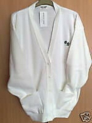 Bowling Cardigan White With Bowls Logo Lawn Bowls S - 5Xl New With Tag