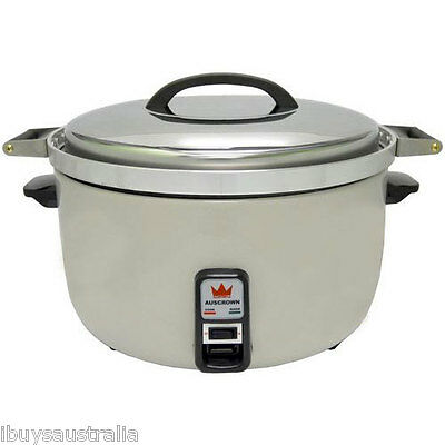 Auscrown Electric 9L 50 Cup Rice Cooker 15A Heavy Duty Handles/Bowl - ERC9L New!