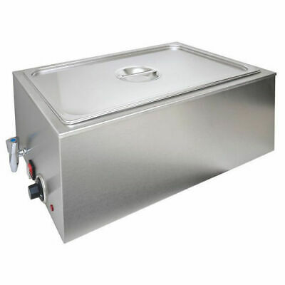 Benchtop Bain Marie with Pan & Lid, 1/1 GN size, Commercial Kitchen Equipment