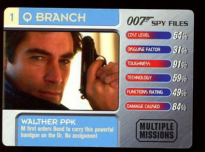 Walther PPK #1 Q Branch - 007 James Bond Spy Files Card