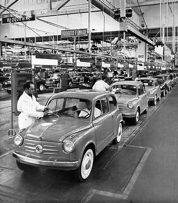 1955 Fiat 600 Assembly Line Factory Photo ua680-XW9AAM